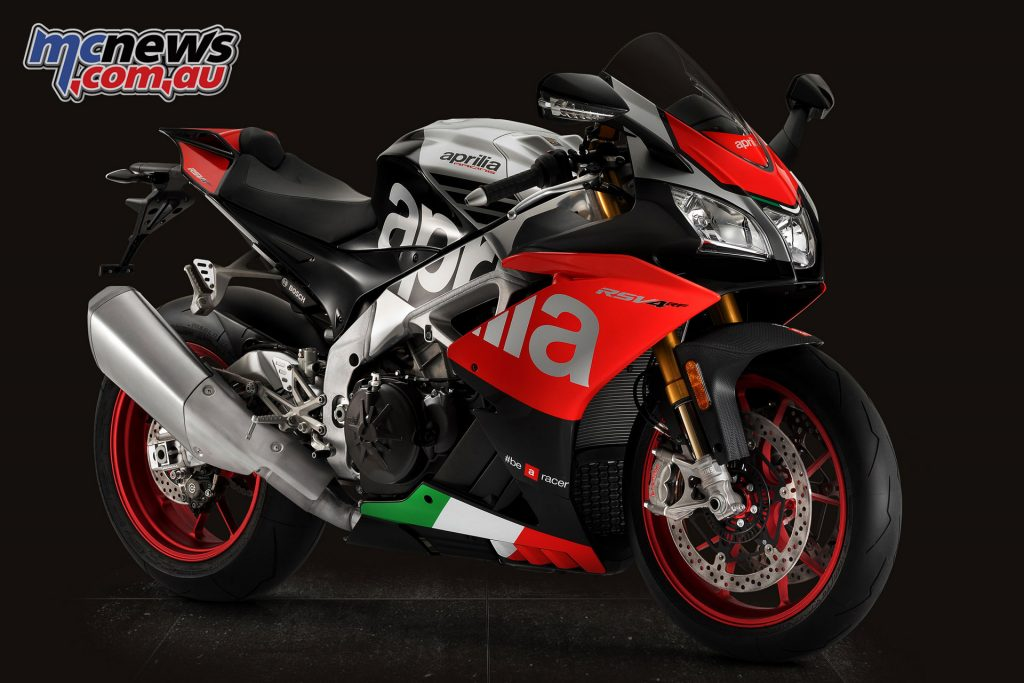 """The 2018 RSV4 RF also boasts an all new """"Superpole"""" colour scheme"""