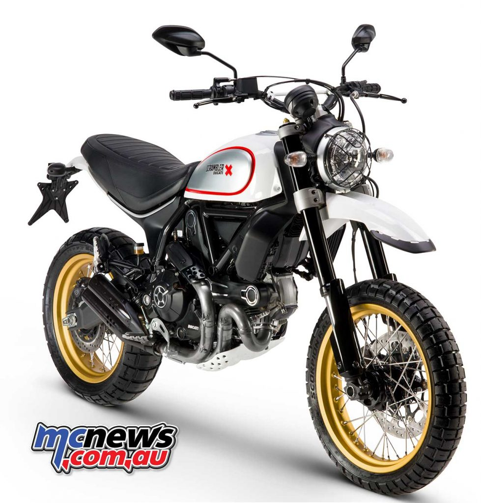 The White Mirage colour option for the Ducati Scrambler Desert Sled continues into 2018