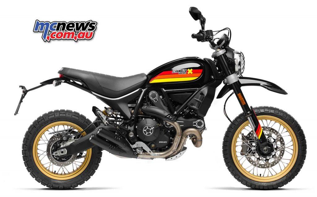The new colour scheme for the 2018 Ducati Scrambler Desert Sled