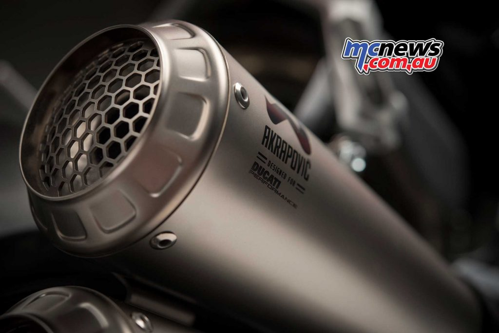 A titanium Akrapovic exhaust is also included