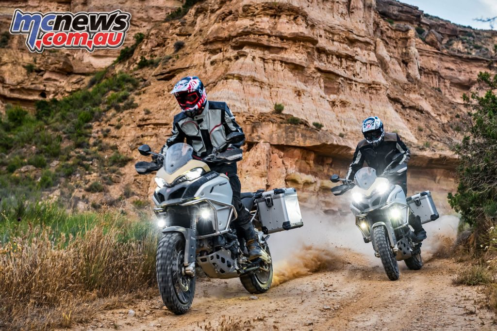 The Enduro Pro features the full electronics package, with DTC, Ride Modes, DWC and DSS