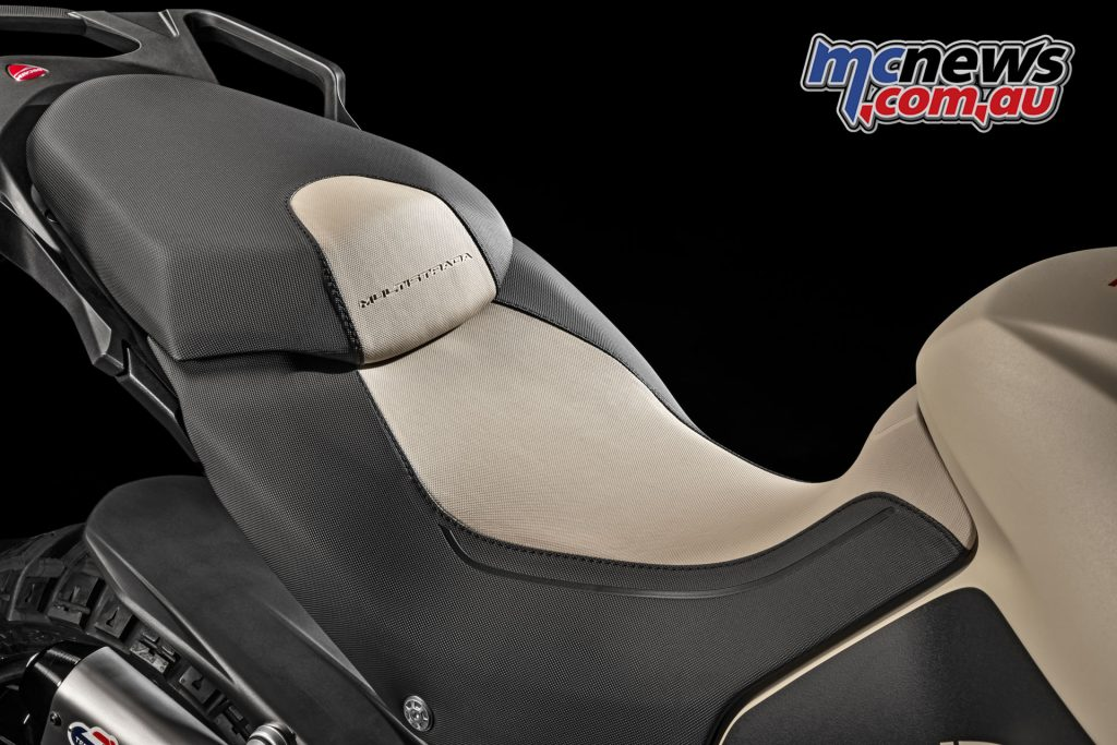 A special two-tone seat is also unique to the Enduro Pro