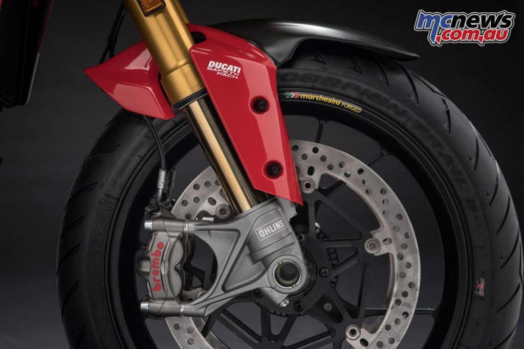Ducati's Safety Pack is of course included with Cornering ABS