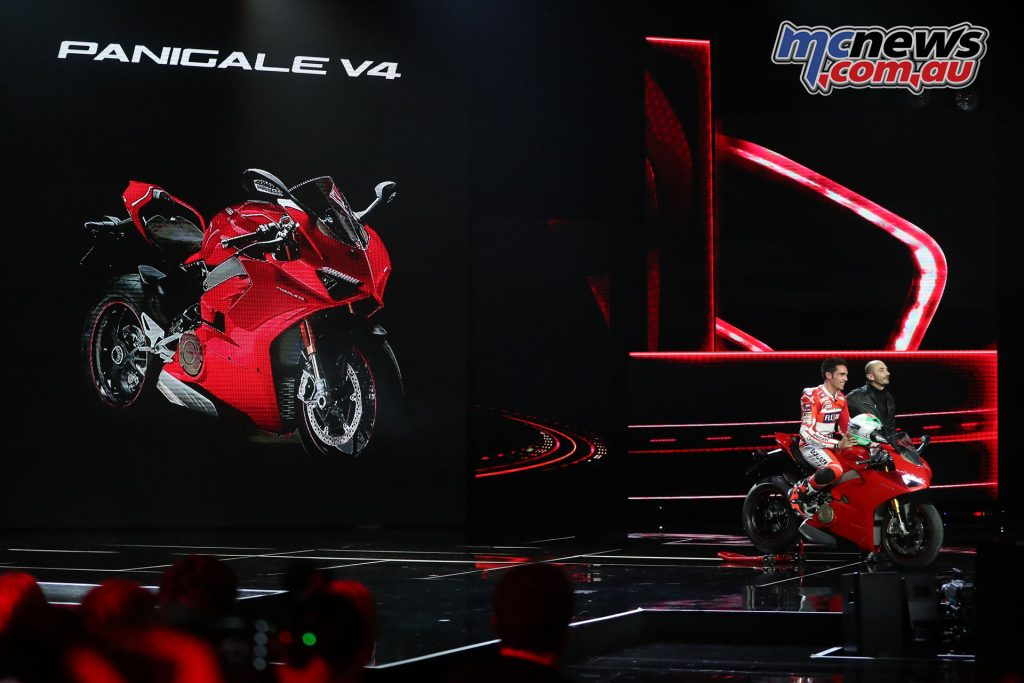 Ducati unveil their 2018 V4 model