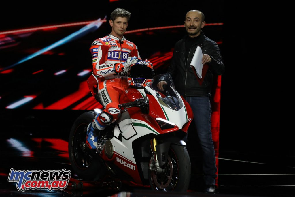 Australian Casey Stoner presented the Panigale V5 Speciale edition