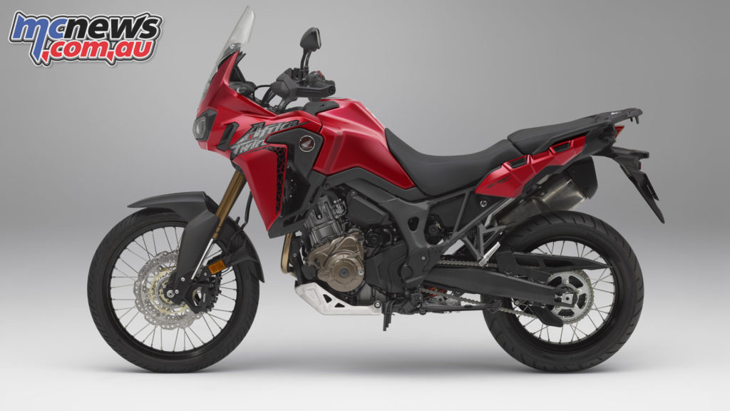The 2018 Honda CRF1000L Africa Twin DCT and MT also include self canceling indicators and Emergency Stop Signal function