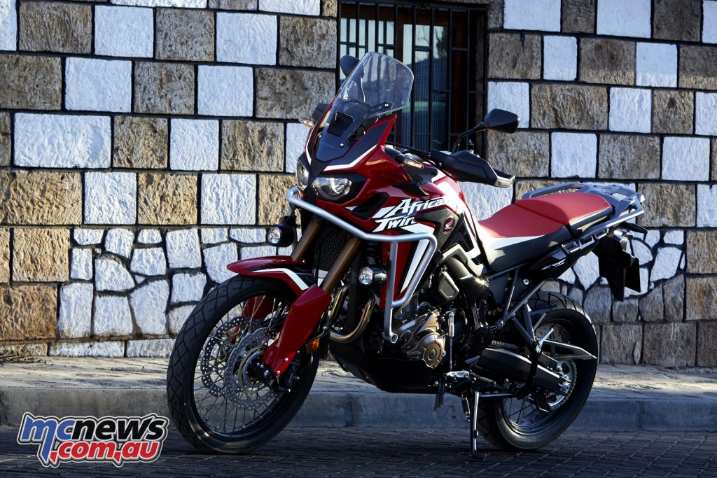 An accessorised Honda CRF1000L Africa Twin