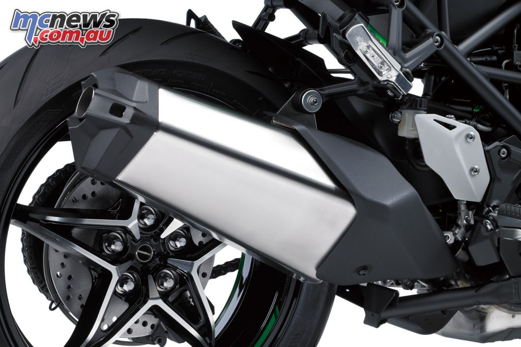 A new slimmer, more attractive exhaust has also been designed