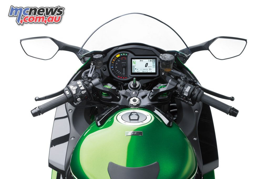 The Ninja H2 SX and SE offer a more relaxed touring friendly ergonomic package