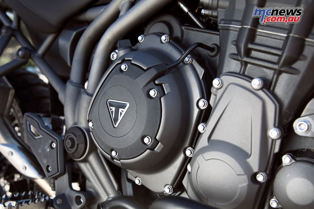 A number of updates to the 1200cc triple ensure more instantaneous power delivery