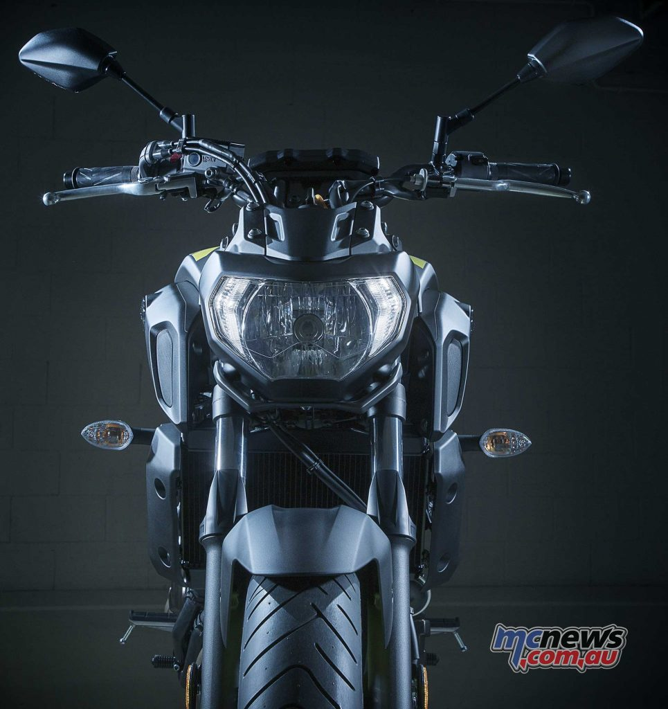 Forks are updated for sportier character with a new headlight