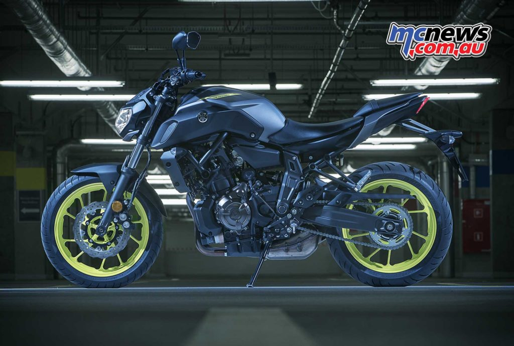 Yamaha's 2018 MT-07 has received fresh styling