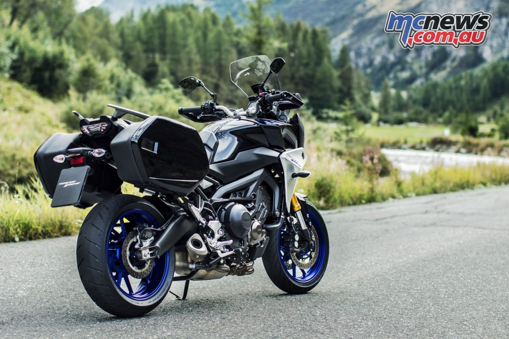 The new for 2018 Yamaha Tracer 900GT comes complete with panniers