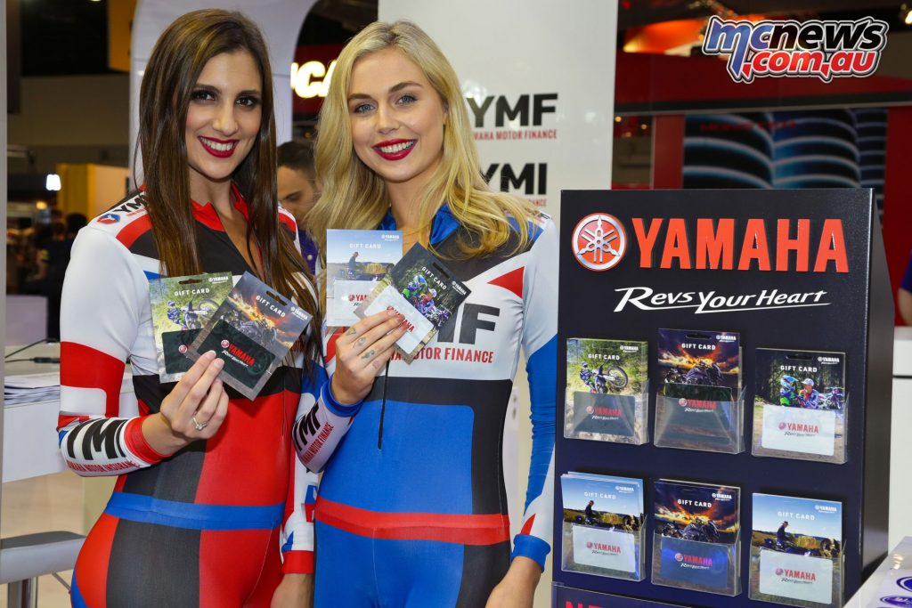 Yamaha Gift Cards at the Sydney Motorcycle Show