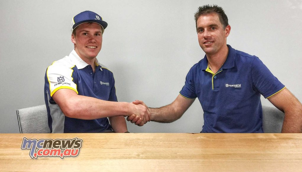 Daniel Sanders signs on with Christian Harwood and Husqvarna for 2018