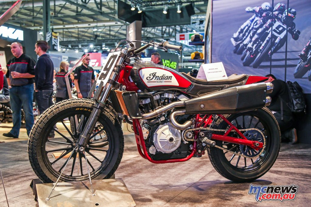 Indian also had their Custom FTR (Flat Track Racer) on display at EICMA