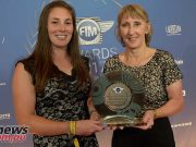 FIM Women in Motorcycling Award given to Motorcycling WA representatives Chelsea Blakers and Tracy Simpson (c)Nuno Laranjeira