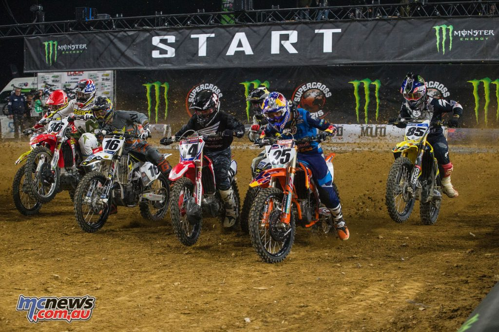 There was plenty of on-track action at the U Arena in Paris