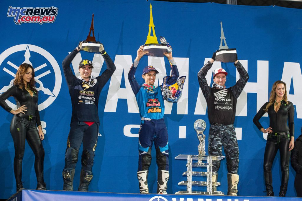 Paris Supercross 2017 - Overall Podium - Dean Wilson, Marvin Musquin, Cole Seely