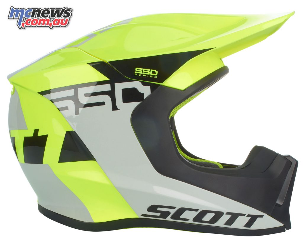 Scott MX550 helmet - Grey/Yellow