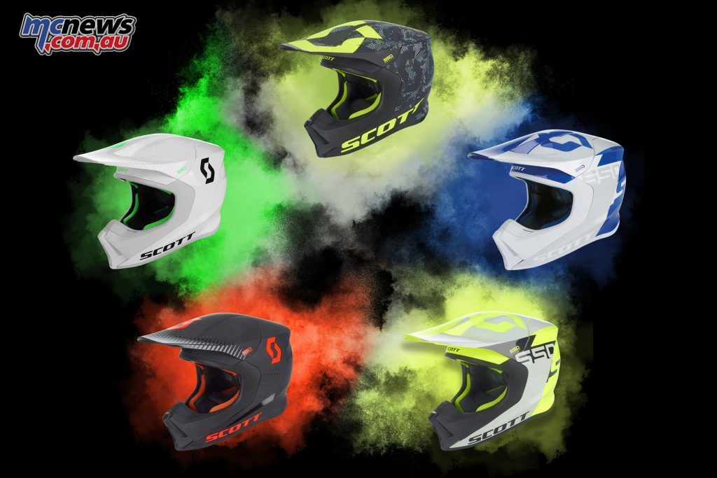 Scott MX550 helmet colour options