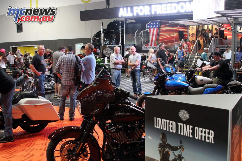 Harley-Davidson had a variety of models on display with their Jumpstart Rider Experience also available