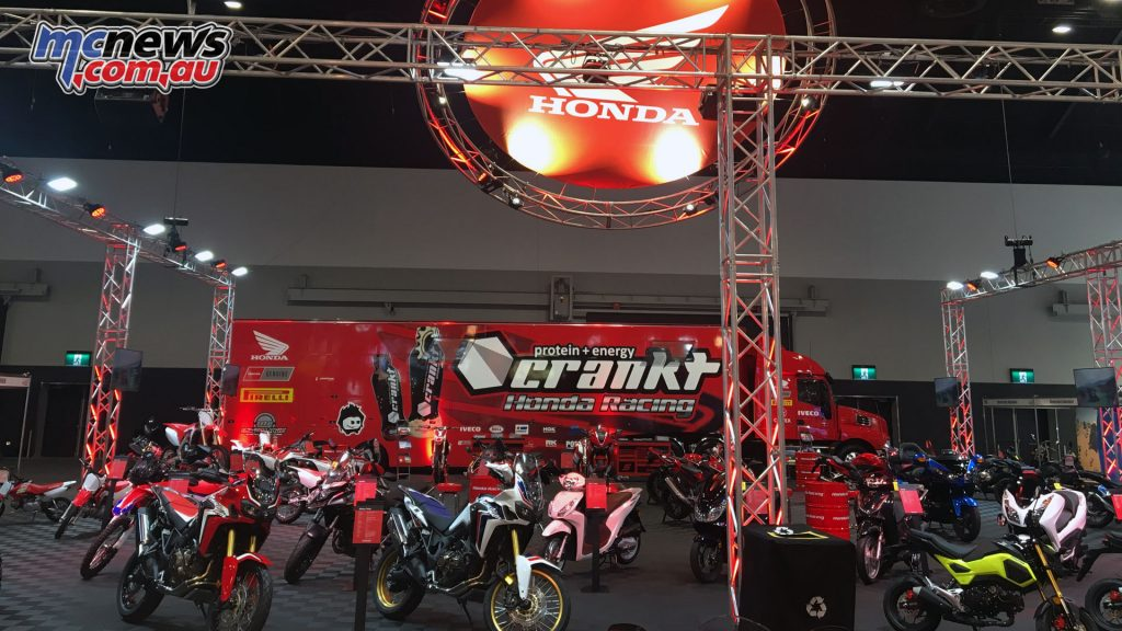 Team Honda Racing had a full display for the brand