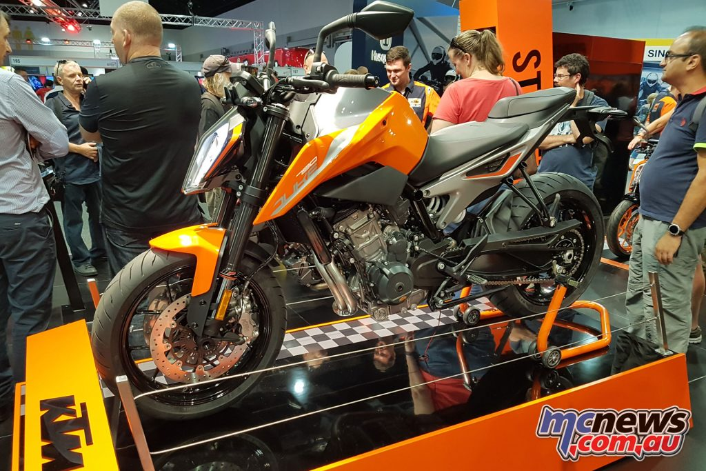 The KTM 790 Duke was a big unveil from the brand, alongside the 2018 Two-Stroke TPI range