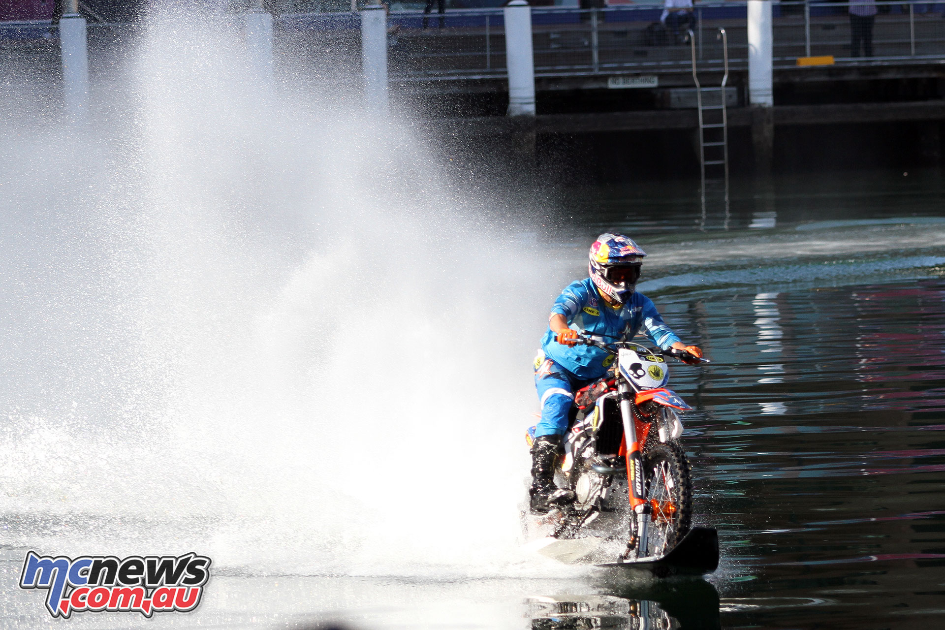 Robbie Maddison on his KTM waterbike - Darling Harbour