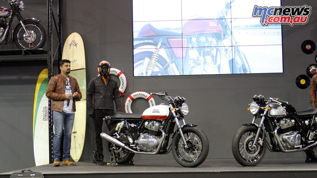 Royal Enfield presented their Continental GT 650 and Interceptor INT 650 on stage