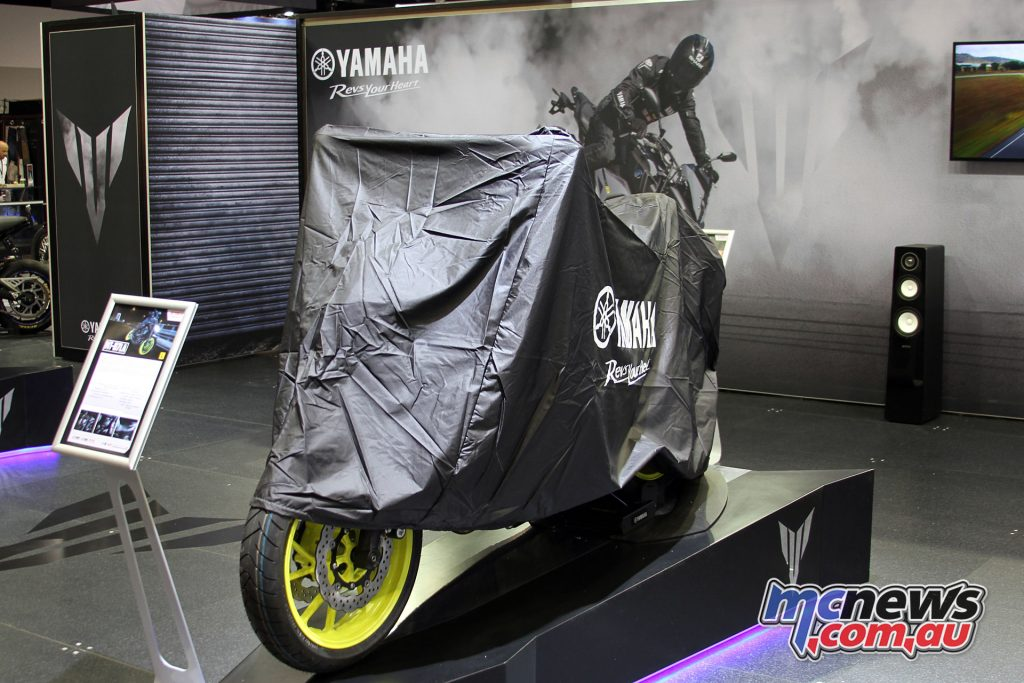 The 2018 Yamaha MT-07 awaiting unveiling