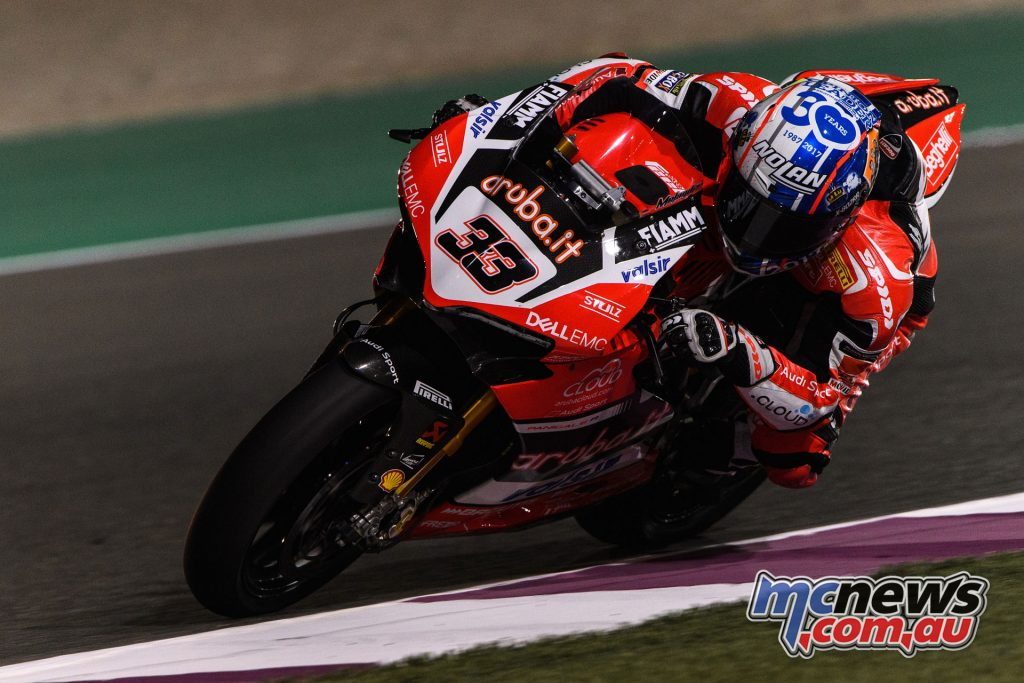 Melandri put in a strong performance with third
