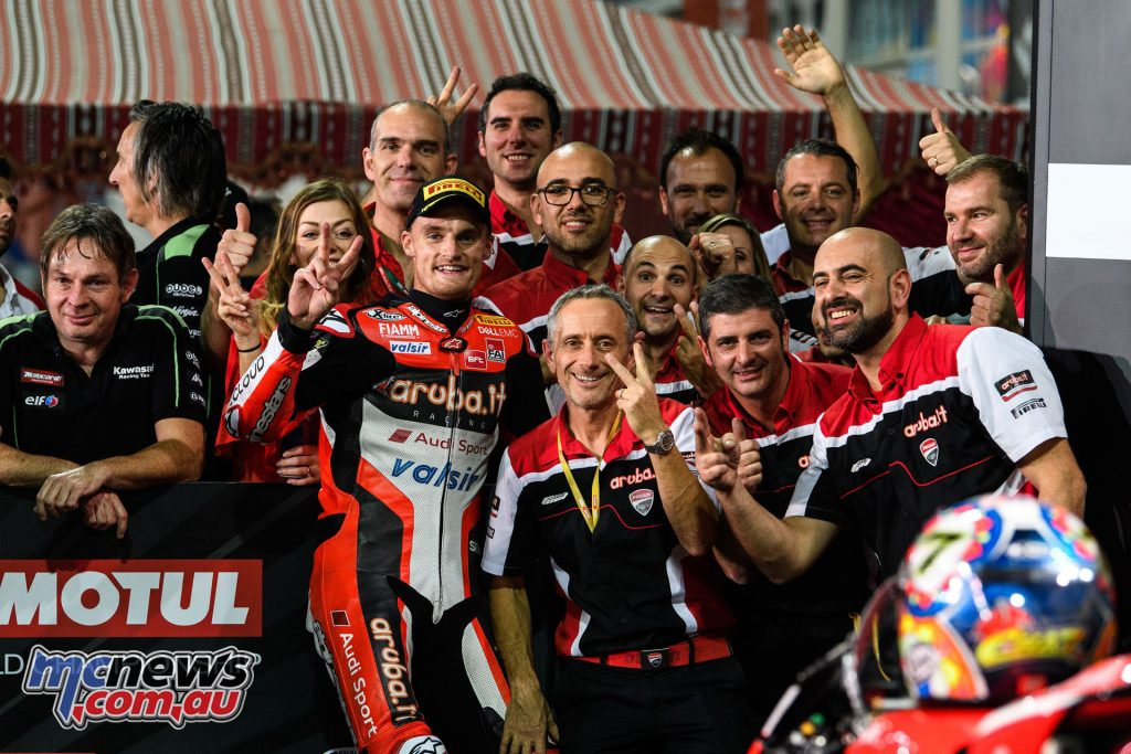 Chaz Davies and the Ducati team