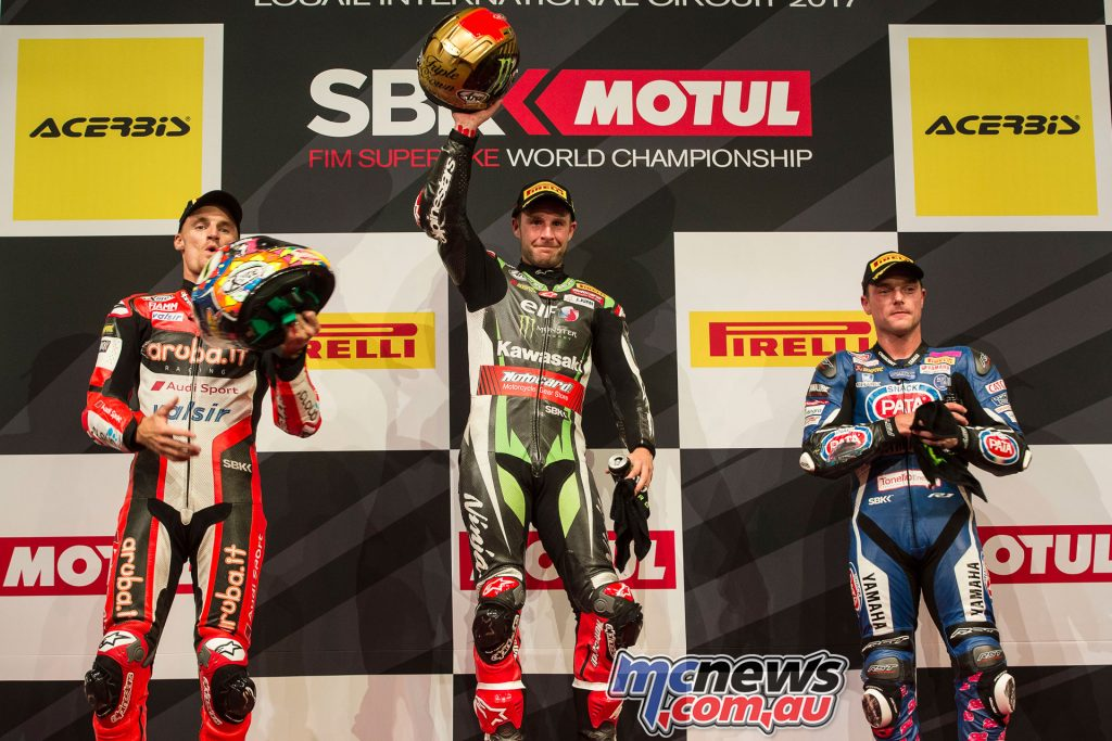 Rea makes Qatar a double, with Davies and Lowes joining him on the Race 2 Podium