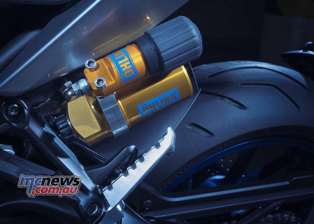 2018 Yamaha MT-09 SP Features New Öhlins remotely adjustable rear shock