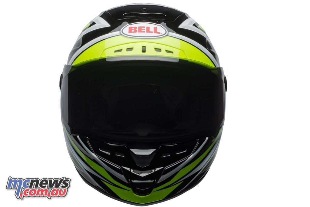 Bell Star Helmet - Black Torsion - Gloss Hi Viz Green