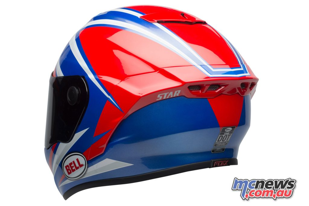 Bell Star Helmet - Gloss Red Blue Torsion