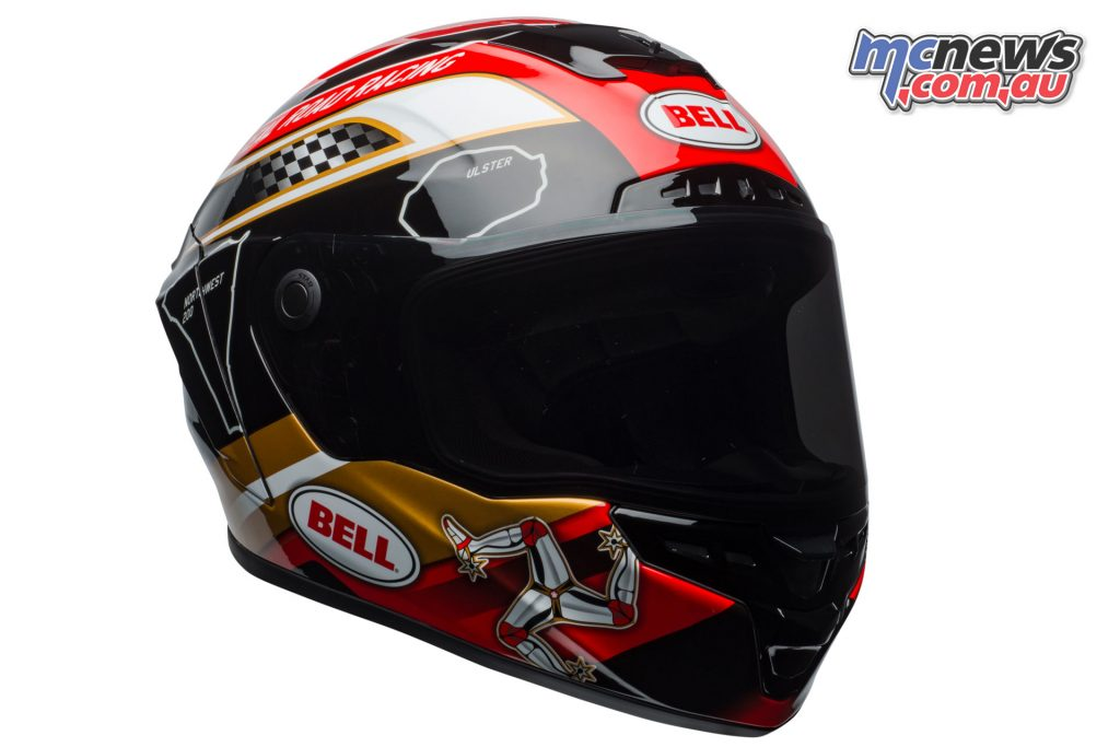 Bell Star Helmet - Isle of Man - Gloss Black Gold