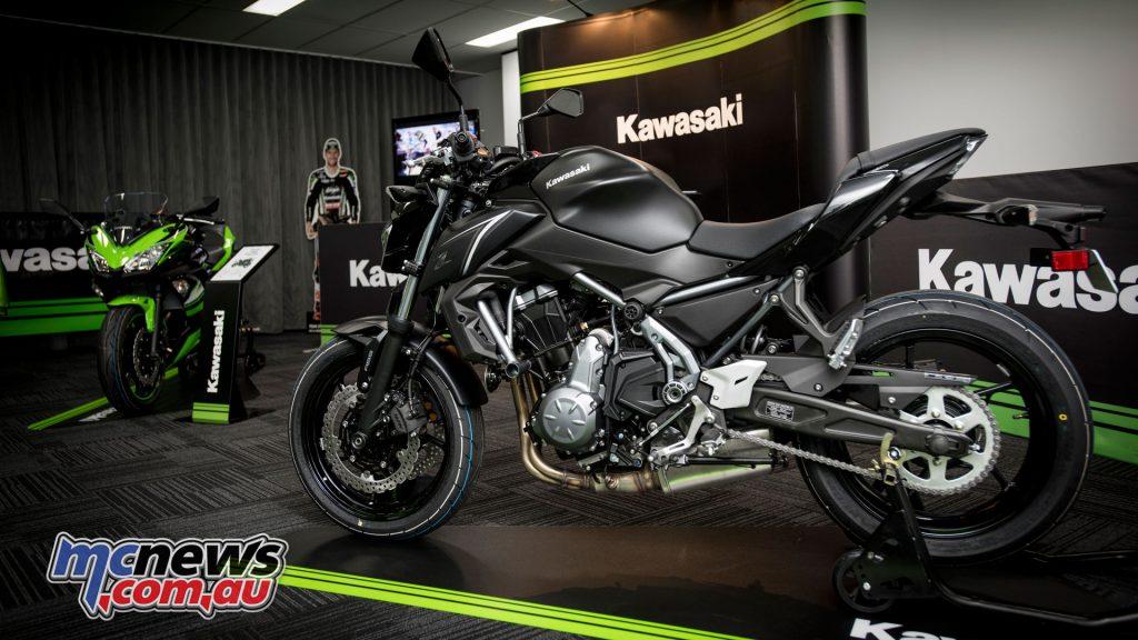 Kawasaki Z650 on display at Kawasaki HQ in Sydney