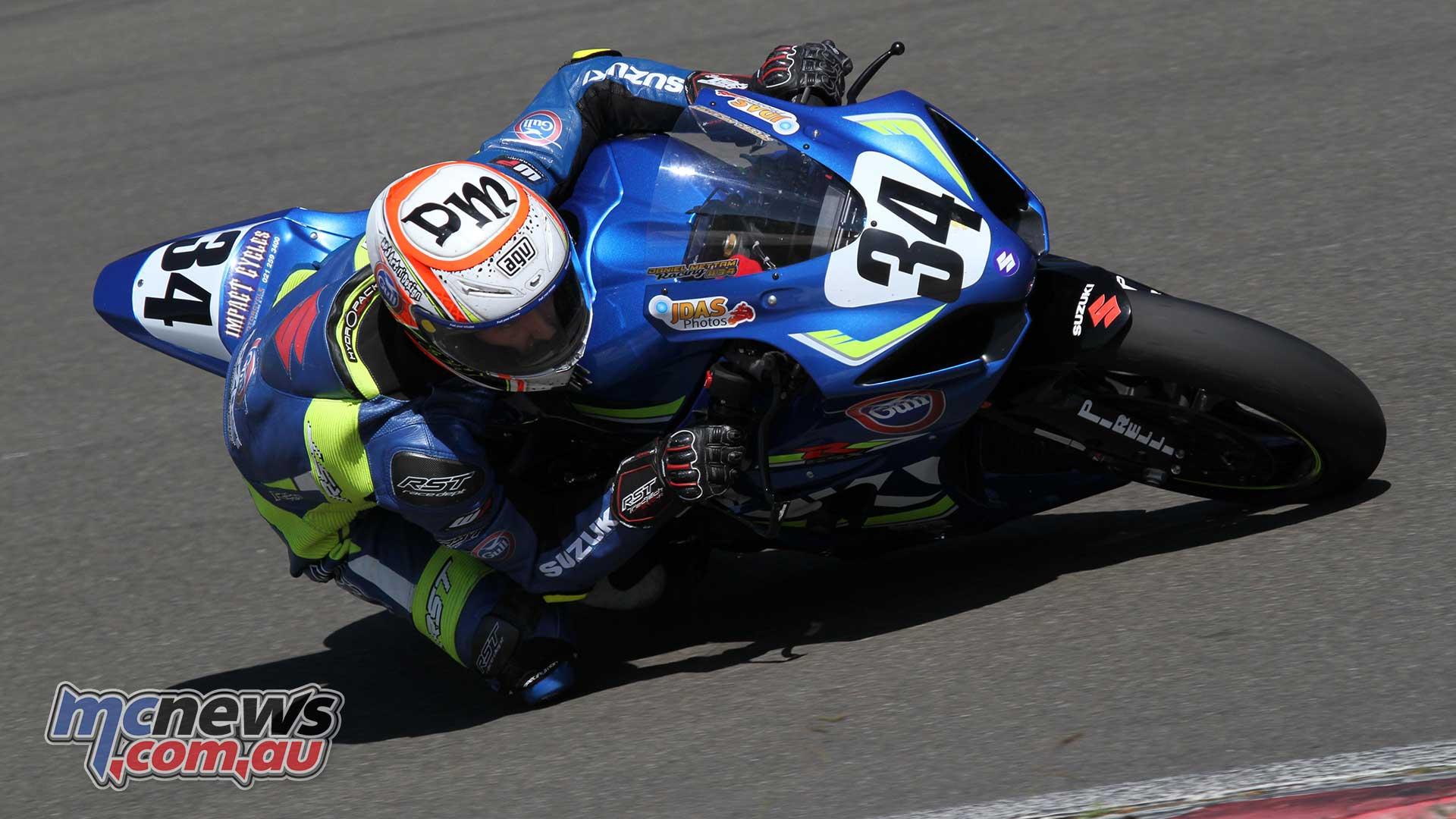Daniel Mettam took victory in race one on his Suzuki NZ GSX-R1000