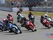 Suzuki Series leader Scott Moir leads the opening F1 Superbike start at Manfeild on Sunday