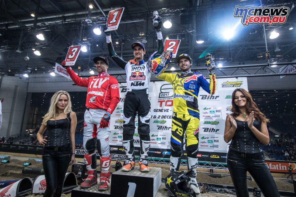 Marvin Musquin took the overall win at the Geneva SX and was crowned 'King of Geneva', for the fourth time
