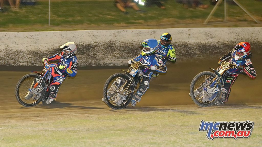 Gillman Raceway 2017 - Left to right: Dave Watt, Justin Sedgmen, Troy Batchelor, Nick Morris - Image by Judy Mackay