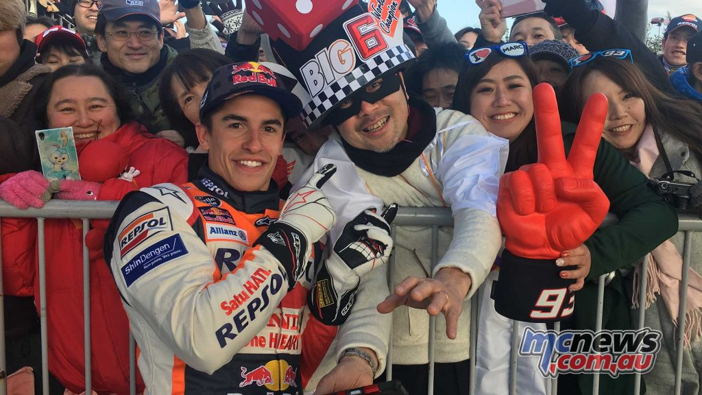 Marc Marquez with fans at Honda Racing Thanks Day