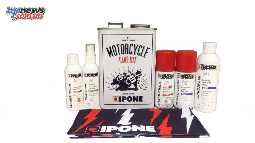 Ipone Motorcycle Care Kit with Vintage Tin – $49.95 RRP