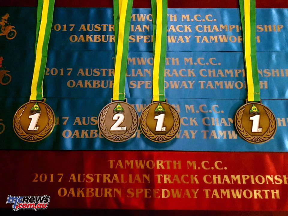 Jarred Brook took quite the trophy haul at the 2017 Australian Track Championships