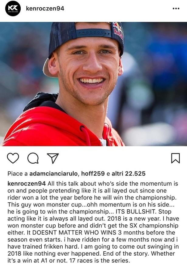 Ken Roczen Instagram
