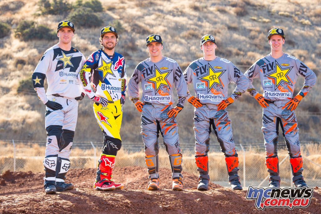 Rockstar Energy Husqvarna Factory Racing's 2018 Team