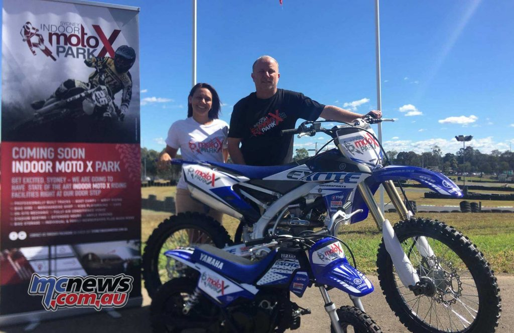 Sydney Indoor MotoX Park owners, Barbara and Mattew Bartolo on-site at Eastern Creek