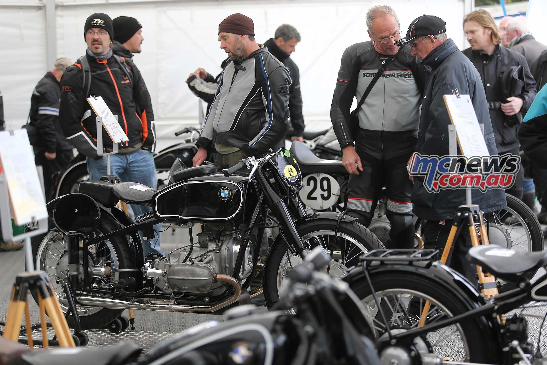 Some BMW machinery at a modern day Classic TT